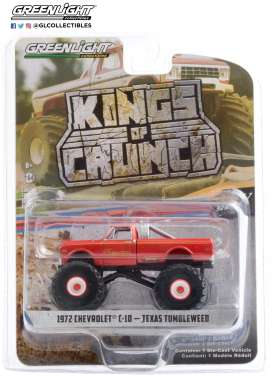 Chevrolet  - C-10 Monster Truck 1972 red - 1:64 - GreenLight - 49070B - gl49070B | Toms Modelautos