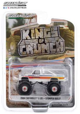 Chevrolet  - C-20 Monster Truck 1984 white/red - 1:64 - GreenLight - 49070C - gl49070C | Toms Modelautos