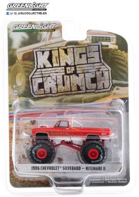 Chevrolet  - Silverado Monster Truck 1986 red - 1:64 - GreenLight - 49070D - gl49070D | Toms Modelautos
