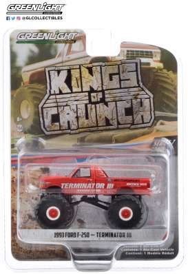 Ford  - F-250 Monster Truck 1993 red - 1:64 - GreenLight - 49070E - gl49070E | Toms Modelautos