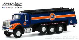 International  - WorkStar Tanker Truck 2018 blue/orange/white - 1:64 - GreenLight - 45100A - gl45100A | Toms Modelautos