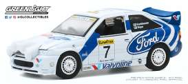 Ford  - Escort RS 1996 white/blue - 1:64 - GreenLight - 47080E - gl47080E | Toms Modelautos