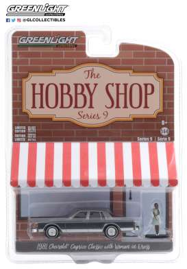 Chevrolet  - Caprice  1981 grey/blue - 1:64 - GreenLight - 97090D - gl97090D | Toms Modelautos