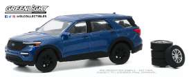 Ford  - Explorer 2020 blue - 1:64 - GreenLight - 97090F - gl97090F | Toms Modelautos