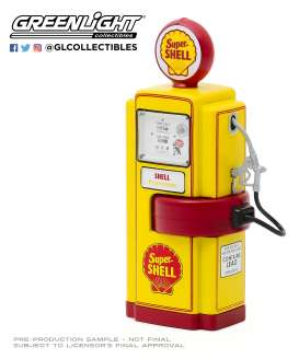 Accessoires diorama - 1948 yellow/red - 1:18 - GreenLight - 14080 - gl14080A | Toms Modelautos