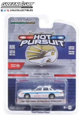 Ford  - Crown Victoria 1995 white/blue - 1:64 - GreenLight - 42930D - gl42930D | Toms Modelautos