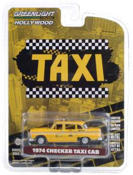 Checker  - 1974 yellow - 1:64 - GreenLight - 44890C - gl44890C | Toms Modelautos