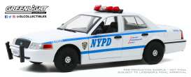 Ford  - Crown Victoria 2011 white/blue - 1:24 - GreenLight - 85513 - gl85513 | Toms Modelautos