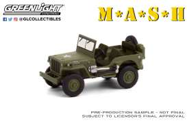 Willys Jeep - MB 1942 green - 1:64 - GreenLight - 44900A - gl44900A | Toms Modelautos