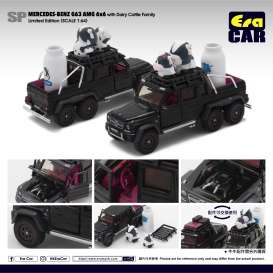 Mercedes Benz  - G63 AMG 6x6 2019 black/white - 1:64 - Era - MB196x6SP07 - Era196x6SP07 | Toms Modelautos