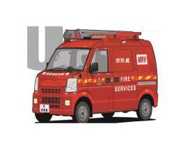 Suzuki  - Every  2010 red - 1:64 - Era - 180803RF - Era19EVERN10 | Toms Modelautos