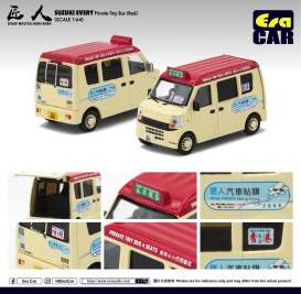 Suzuki  - Every Bus 2018 cream/red - 1:64 - Era - 19EVESP09 - Era19EVESP09 | Toms Modelautos