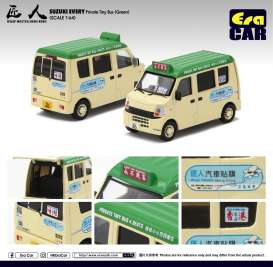 Suzuki  - Every Bus 2018 cream/green - 1:64 - Era - 19EVESP10 - Era19EVESP10 | Toms Modelautos