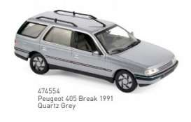 Peugeot  - 1991 grey - 1:43 - Norev - 474554 - nor474554 | Toms Modelautos
