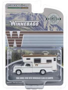 Dodge  - D-100 1966 white - 1:64 - GreenLight - 30189 - gl30189 | Toms Modelautos