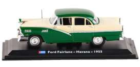 Ford  - Fairlane 1955 white/green - 1:43 - Magazine Models - TX08 - magTX08 | Toms Modelautos