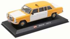 Mercedes Benz  - 240D 1973 white/yellow - 1:43 - Magazine Models - TX09 - magTX09 | Toms Modelautos