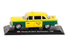 Checker  - A11/A12 1980 yellow/green - 1:43 - Magazine Models - TX10 - magTX10 | Toms Modelautos