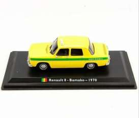 Renault  - 8 1970 yellow/green - 1:43 - Magazine Models - TX14 - magTX14 | Toms Modelautos