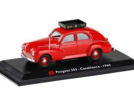 Peugeot  - 203 1960 red - 1:43 - Magazine Models - TX16 - magTX16 | Toms Modelautos