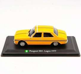 Peugeot  - 504 1977 yellow - 1:43 - Magazine Models - TX22 - magTX22 | Toms Modelautos