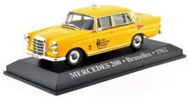 Mercedes Benz  - 200 1962 yellow - 1:43 - Magazine Models - TX28 - magTX28 | Toms Modelautos
