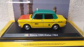 Simca  - 1000 1964 yellow/green/orange - 1:43 - Magazine Models - TX30 - magTX30 | Toms Modelautos