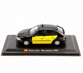 Seat  - Leon 1999 black/yellow - 1:43 - Magazine Models - TX35 - magTX35 | Toms Modelautos