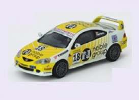 Honda  - Integra 2003 white/yellow - 1:64 - Inno Models - in64MGP19DC501 - in64MGP19DC501 | Toms Modelautos
