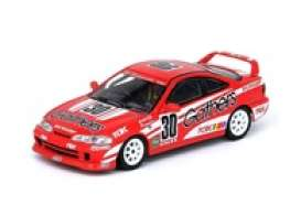 Honda  - Integra Type R 1996 red/white - 1:64 - Inno Models - in64DC2GAT - in64DC2GAT | Toms Modelautos