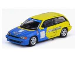 Honda  - Civic  yellow/blue - 1:64 - Inno Models - in64EATSP85 - in64EATSP85 | Toms Modelautos