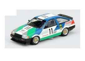 Toyota  - Corolla 1985 blue/white/green - 1:64 - Inno Models - in64AE8611TR85 - in64AE8611TR85 | Toms Modelautos