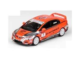 Honda  - Civic  orange - 1:64 - Inno Models - in64FD2AB - in64FD2AB | Toms Modelautos