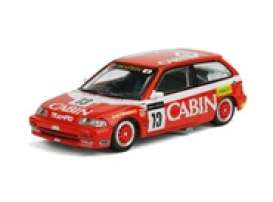 Honda  - Civic EF3 GR.A #13 *Cabin* white/red - 1:64 - Inno Models - in64EF313CBM - in64EF313CBM | Toms Modelautos