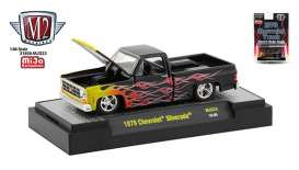 Chevrolet  - Silverado 1979 black/red/yellow - 1:64 - M2 Machines - 32500MJS23 - M2-32500MJS23 | Toms Modelautos