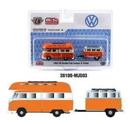 Volkswagen  - Double Cab 1959 orange/white - 1:64 - M2 Machines - 38100MJS03 - M2-38100MJS03 | Toms Modelautos