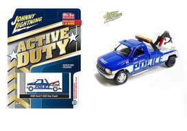 Ford  - F-450 blue/white - 1:64 - Johnny Lightning - cp7255 - jlcp7255 | Toms Modelautos
