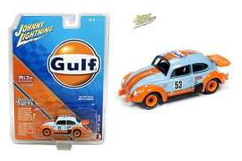 Volkswagen  - Beetle 1970 blue/orange - 1:64 - Johnny Lightning - cp7305 - jlcp7305 | Toms Modelautos