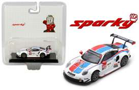 Porsche  - 911 RSR 2019 white/red/blue - 1:64 - Spark - Y136 - spaY136MJ | Toms Modelautos