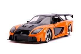 Mazda  - RX-7 F&F  1993 orange/black - 1:24 - Jada Toys - 30732 - jada30732 | Toms Modelautos