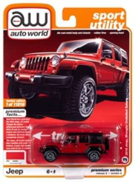 Jeep  - Wrangler 2018 red/black - 1:64 - Auto World - SP036A - AWSP036A | Toms Modelautos