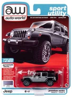 Jeep  - Wrangler 2018 silver/black - 1:64 - Auto World - SP036B - AWSP036B | Toms Modelautos
