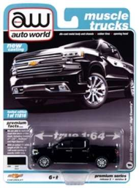 Chevrolet  - Silverado 2019 black - 1:64 - Auto World - SP037B - AWSP037B | Toms Modelautos