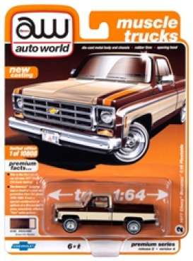 Chevrolet  - Bonanza 10 Truck 1977 brown - 1:64 - Auto World - SP038A - AWSP038A | Toms Modelautos