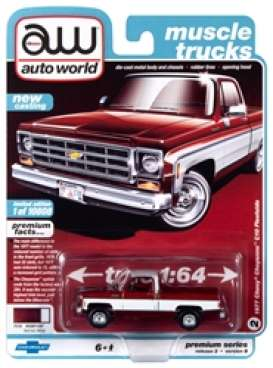 Chevrolet  - Bonanza 10 Truck 1977 red/white - 1:64 - Auto World - SP038B - AWSP038B | Toms Modelautos