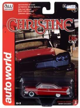 Plymouth  - Fury 1958 red - 1:64 - Auto World - SP039A - AWSP039A | Toms Modelautos