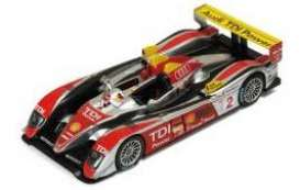 Audi  - 2008 silver/red - 1:43 - IXO Models - lm2008 - spalm2008 | Toms Modelautos