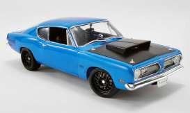 Plymouth  - Hemi Cuda Street Fighter 1969 corparate blue - 1:18 - Acme Diecast - 1806117 - acme1806117 | Toms Modelautos