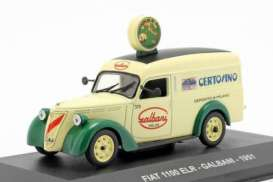Fiat  - 1100 ELR light yellow/green - 1:43 - Magazine Models - magkPubFi1951 | Toms Modelautos