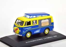Alfa Romeo  - 1955 yellow/blue - 1:43 - Magazine Models - magkPubAl1955 | Toms Modelautos